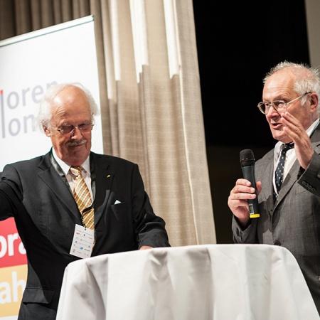 Eröffnung des Sachsen-Anhalt-Abends Prof. Dr. Otto Wulff und Prof. Dr. Wolfgang Merbach (v.l.n.r.)
