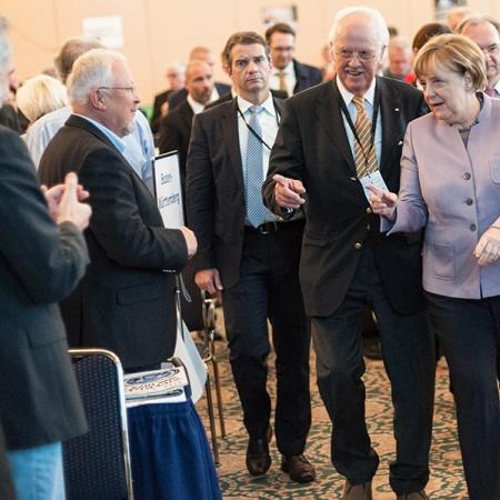 Ankunft der Bundeskanzlerin und Bundesvorsitzenden der CDU - Prof. Dr. Otto Wulff und Dr. Angela Merkel (v.l.n.r.)