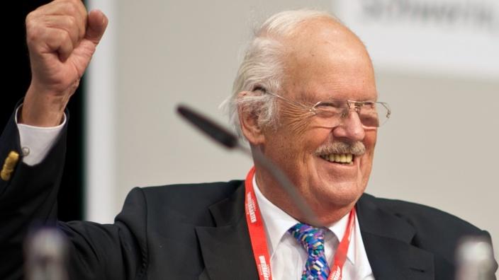 Prof. Dr. Otto Wulff, Vorsitzender der Senioren-Union der CDU