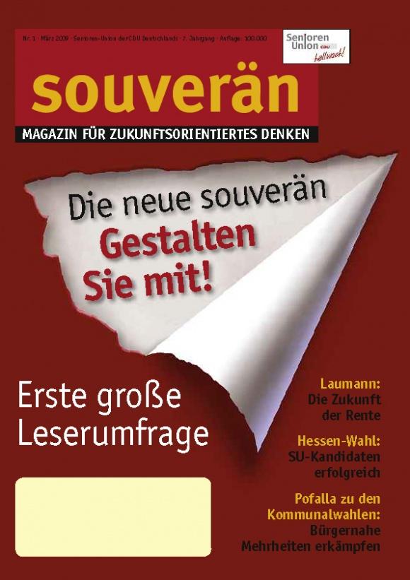 """""""SOUVERÄN"""" - Ausgabe 01/2009"""