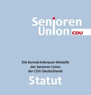 Statut Konrad-Adenauer-Medaille