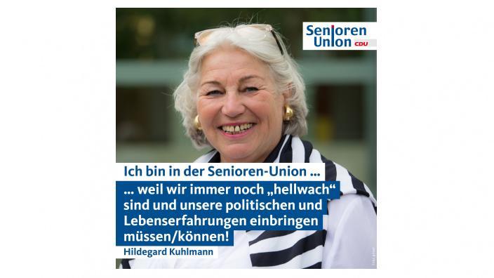 Ich bin bei der Senioren-Union…